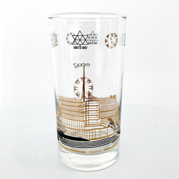 EXPO 67 FRANCE PAVILION GLASS — Vintage collection