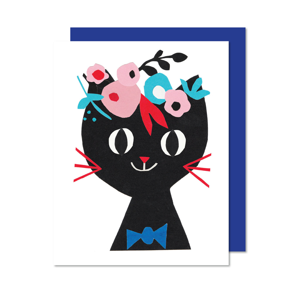 PAPER CAT Greeting card