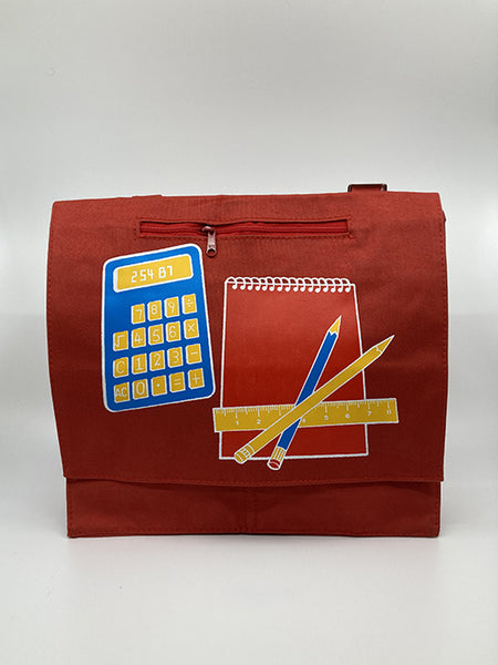VINTAGE 80'S SCHOOL BAG - Small red