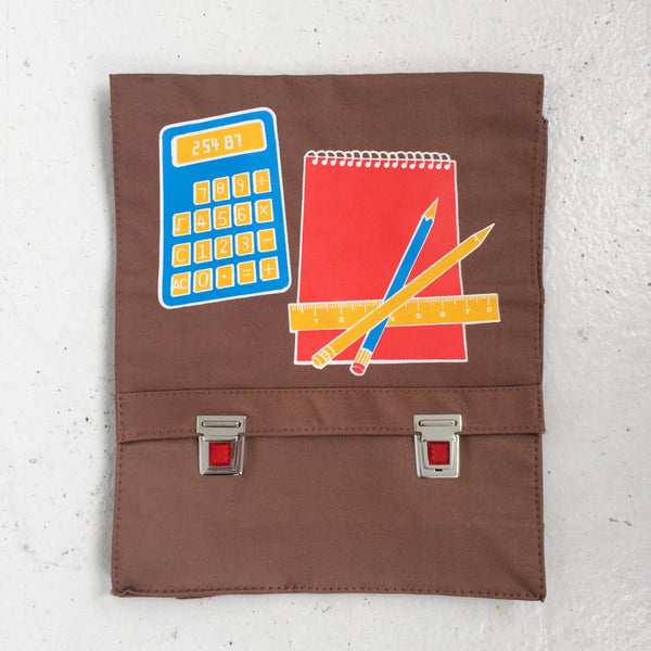 VINTAGE SCHOOL BAG - BROWN