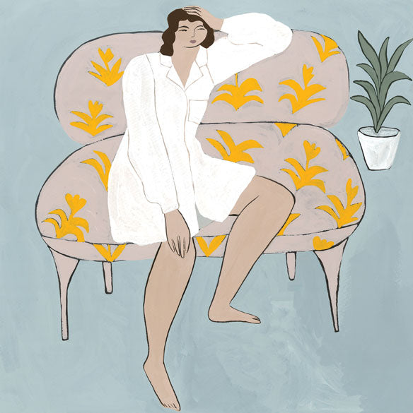 WONDERER ON A COUCH — by Isabelle Feliu