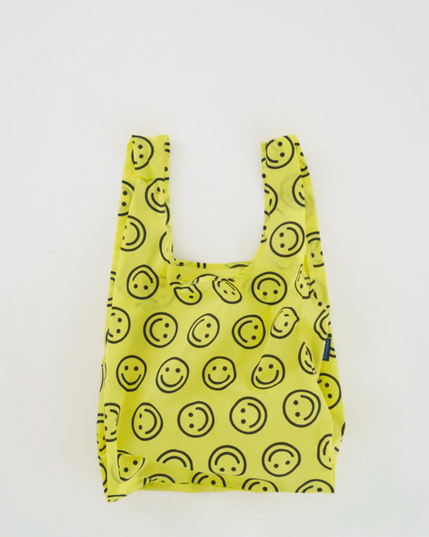 SAC RÉUTILISABLE STANDARD YELLOW HAPPY — par Baggu