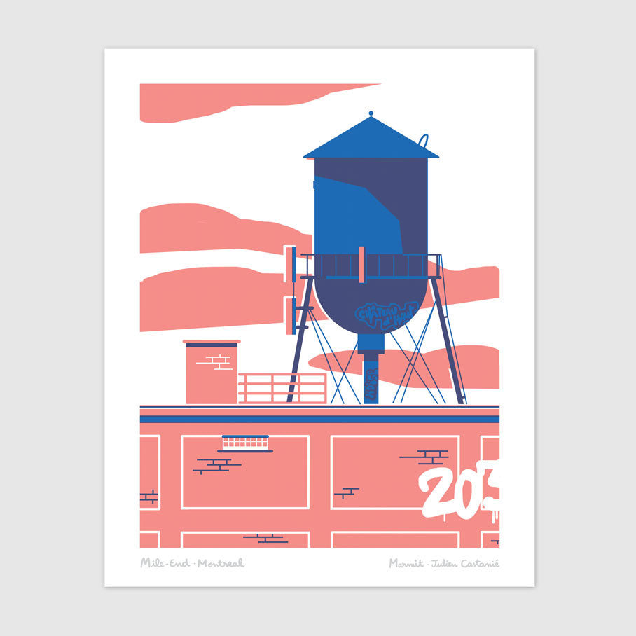 CITERNE (serigraphy) — by Julien Castanié and Marmit Labo