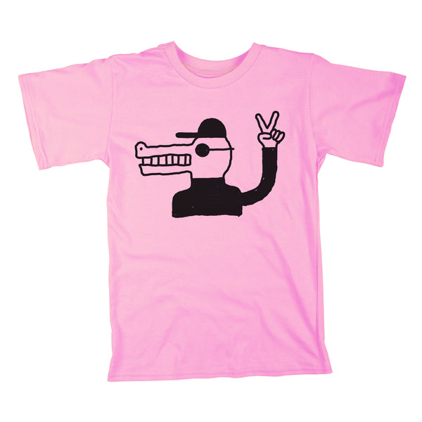 CROCODILE T SHIRT - ROSE
