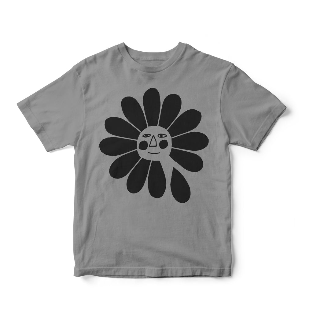 FLOWER T SHIRT - GRAY