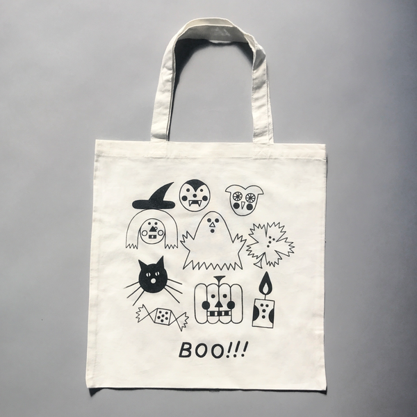 HALLOWEEN WHITE CANDY BAG