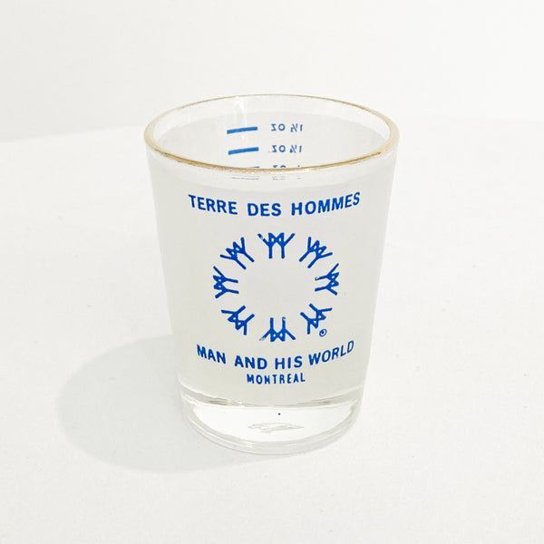 EXPO 67 WHITE SHOT GLASS — Vintage collection