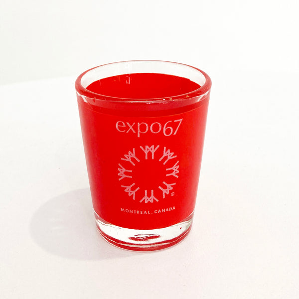 EXPO 67 RED SHOT GLASS — Vintage collection