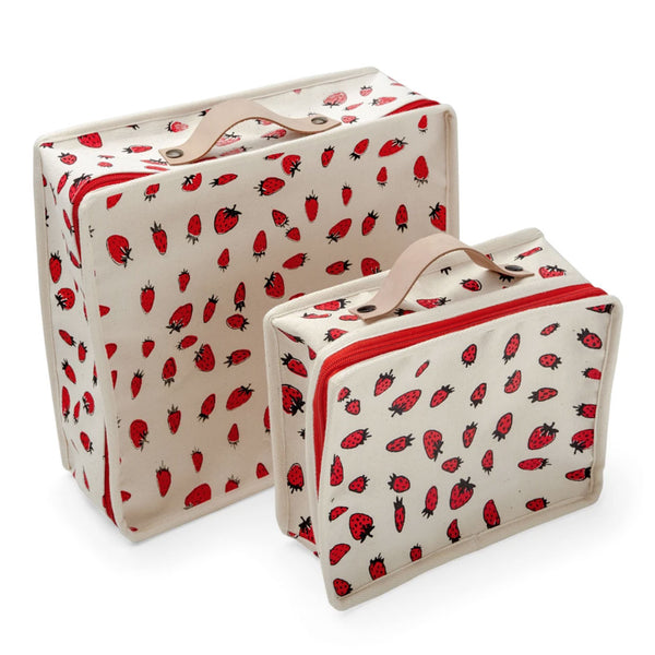 Strawberry suitcases  — by La fée Raille