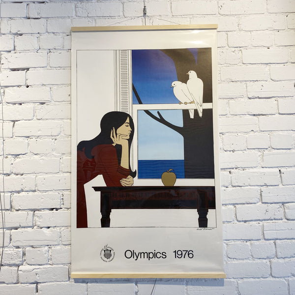 "WILL BARNET, 1976 MONTREAL OLYMPIC ""Two White Doves"""