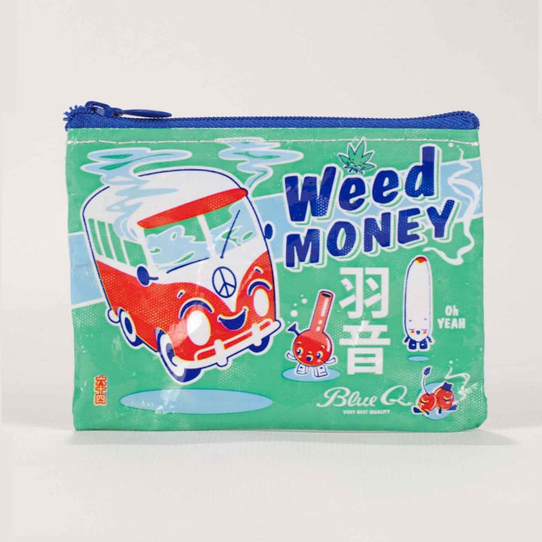 Blue Q Coin Purse - Weed Money