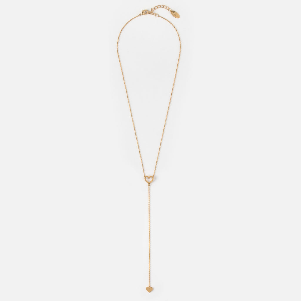 Orelia Heart Lariat Necklace
