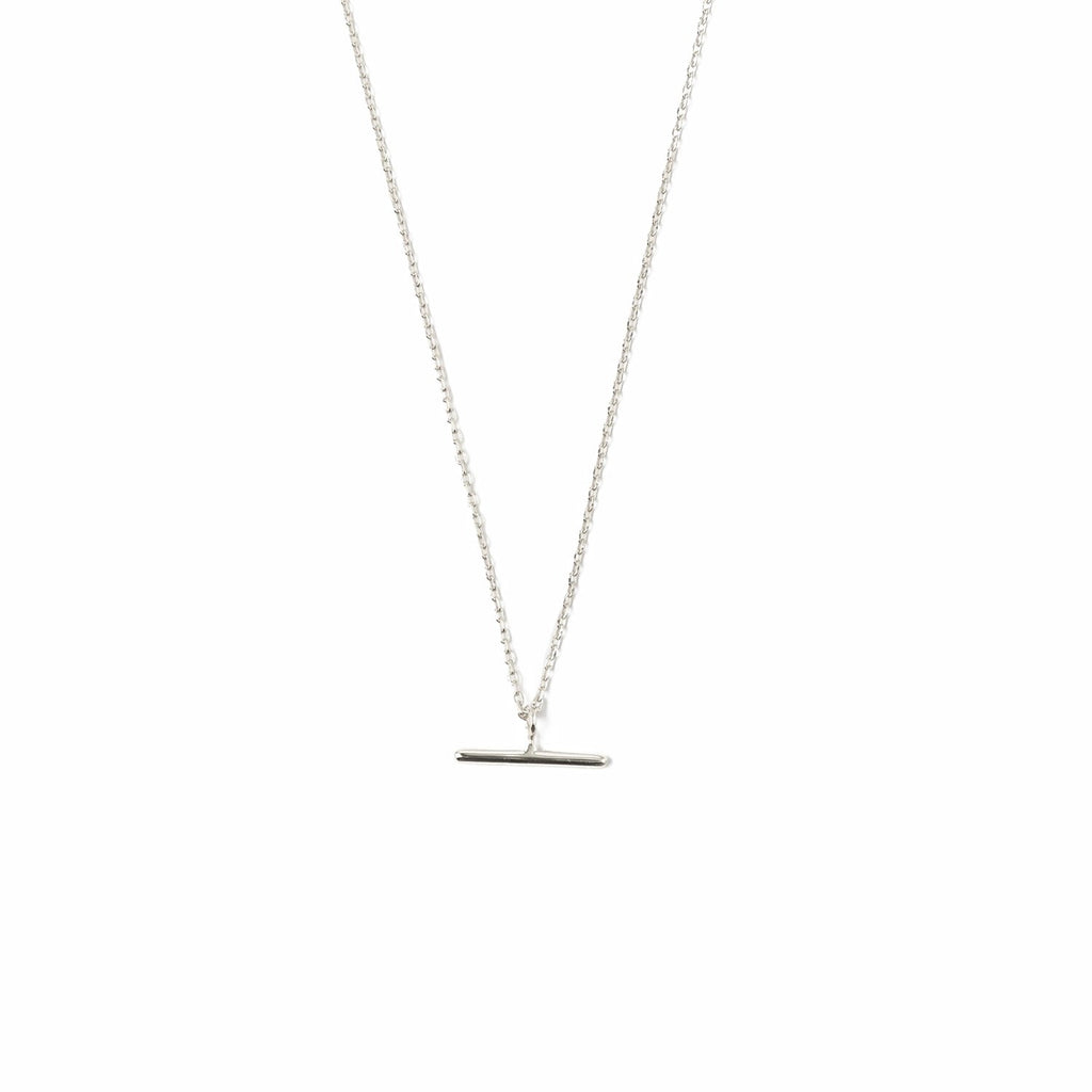 T-Bar Ditsy Charm Necklace - Silver Plated