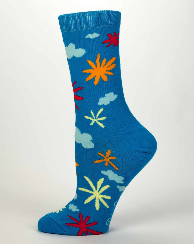 Blue Q Crew Socks - Carpe The Fuck Out Of This Diem