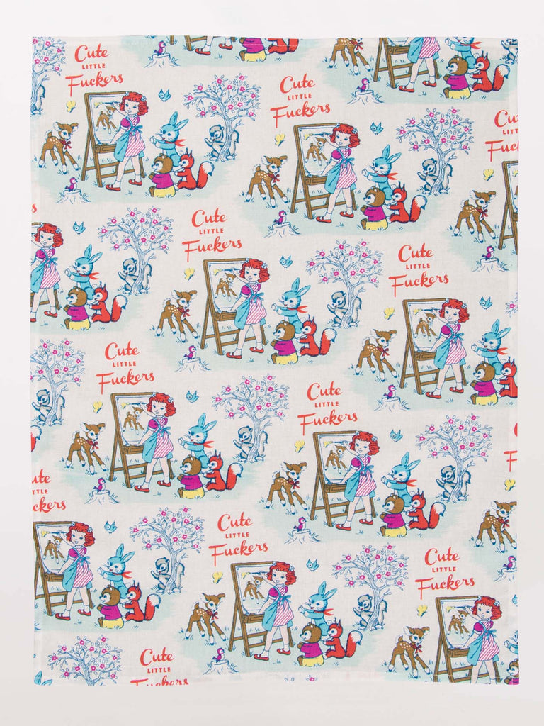 Blue Q Tea Towel - Cute Little Fuckers