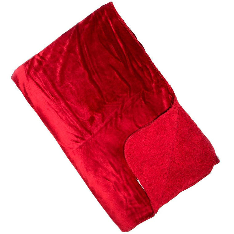 Cosy Throw - Scarlet Red