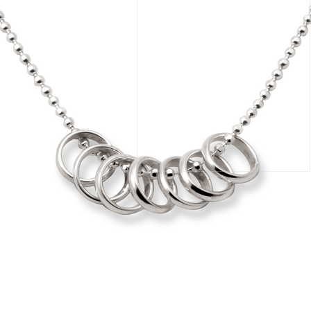 Tales From The Earth - Lucky Seven Rings Necklace