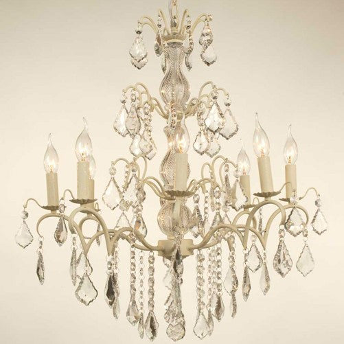 8 Arm Cream Crack Chandelier