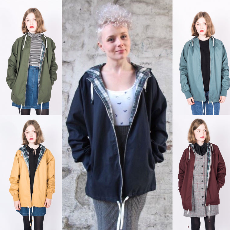 Ladies Anorak Style Raincoat - 5 Colours