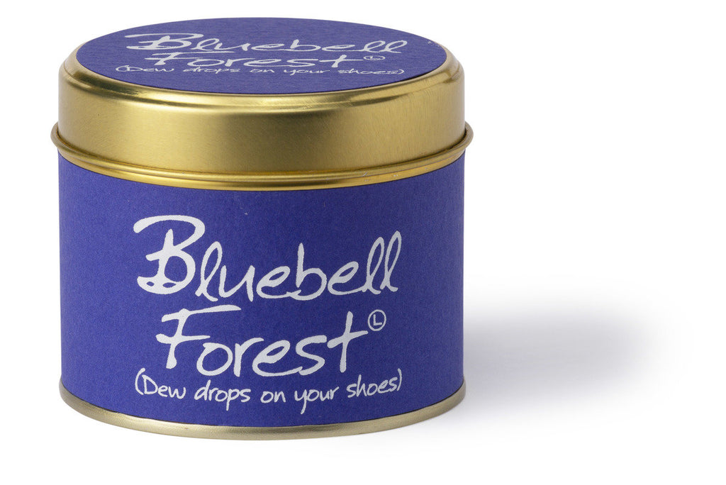 Lily-Flame Scented Tin Candle - Bluebell Forest