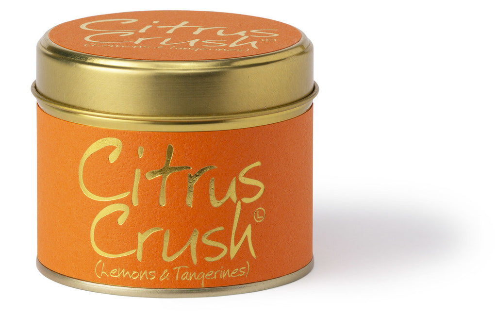 Lily-Flame Scented Tin Candle - Citrus Crush