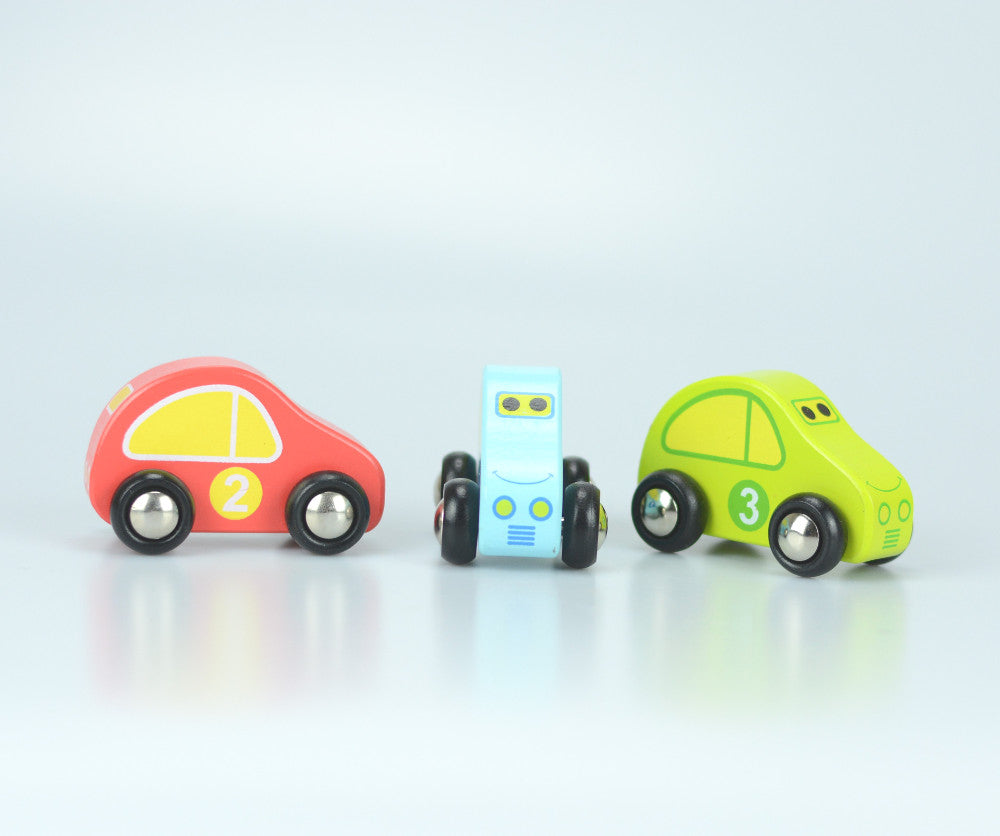 Wooden Car Carrier Toy Set