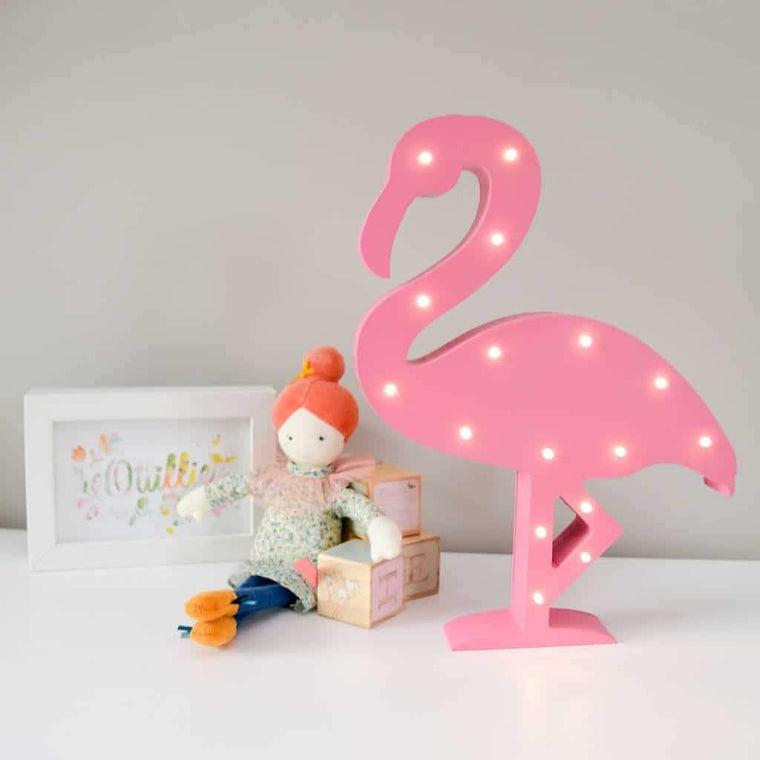 Smiling Faces Light Up Flamingo