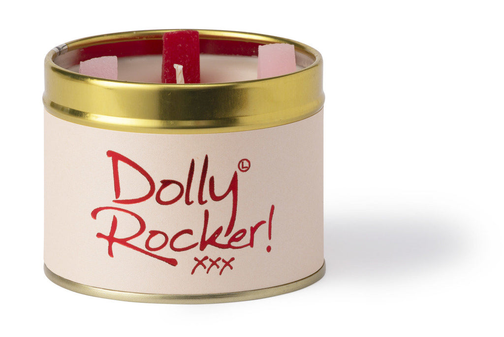 Lily-Flame Scented Tin Candle - Dolly Rocker