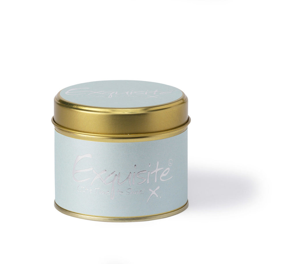 Lily-Flame Scented Tin Candle - Exquisite