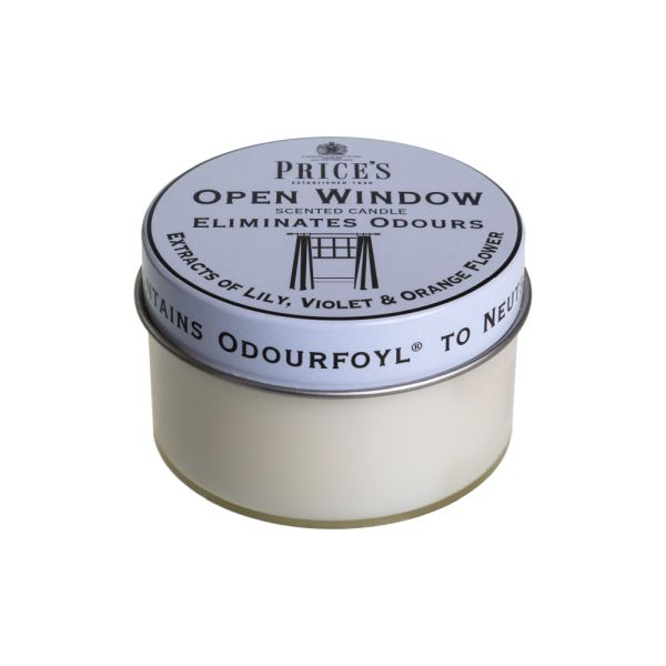 Price's Fresh Air Tin Candle - Open Window
