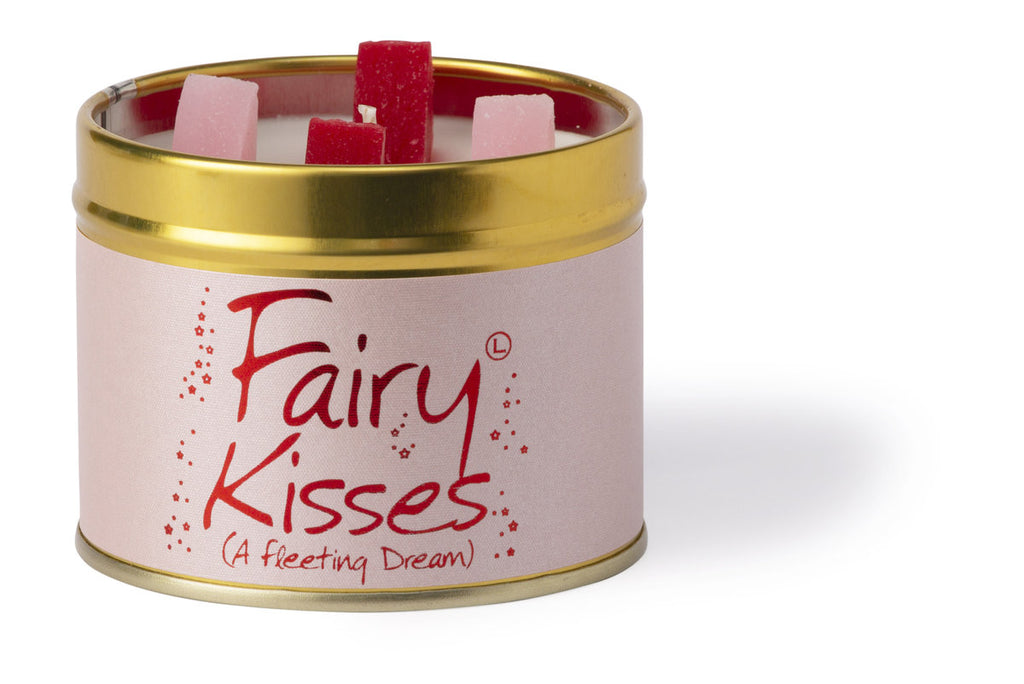 Lily-Flame Scented Tin Candle - Fairy Kisses