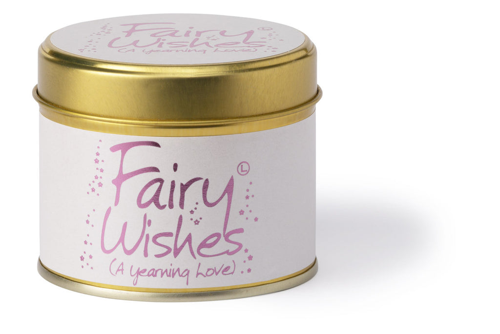 Lily-Flame Scented Tin Candle - Fairy Wishes