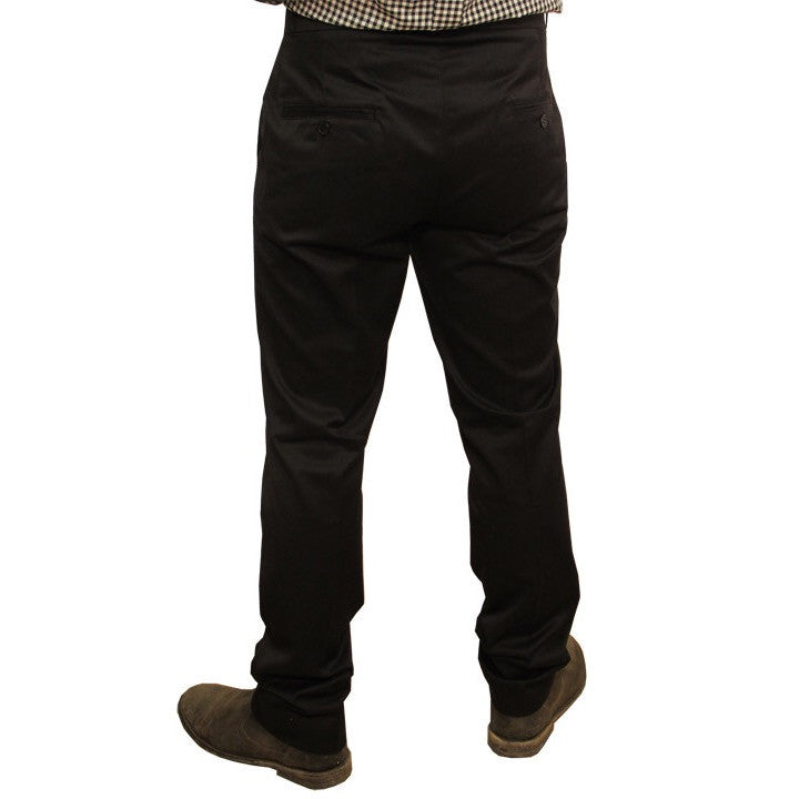 Mens Sta Prest Trousers Black