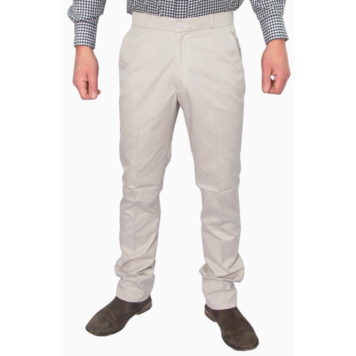 Mens Sta Prest Trousers Khaki
