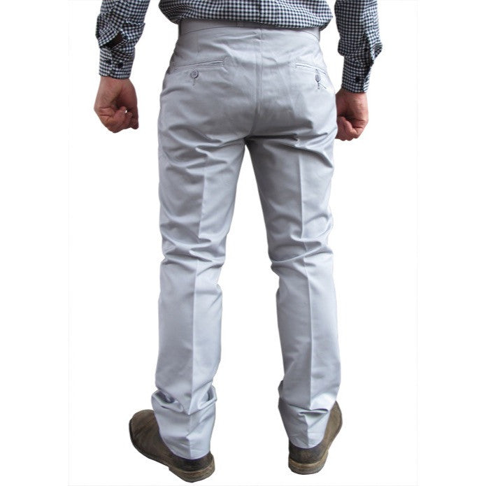 Mens Sta Prest Trousers Grey