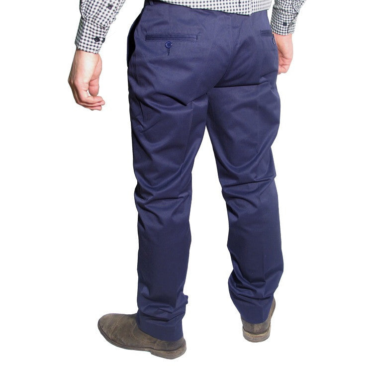 Mens Sta Prest Trousers Navy Blue
