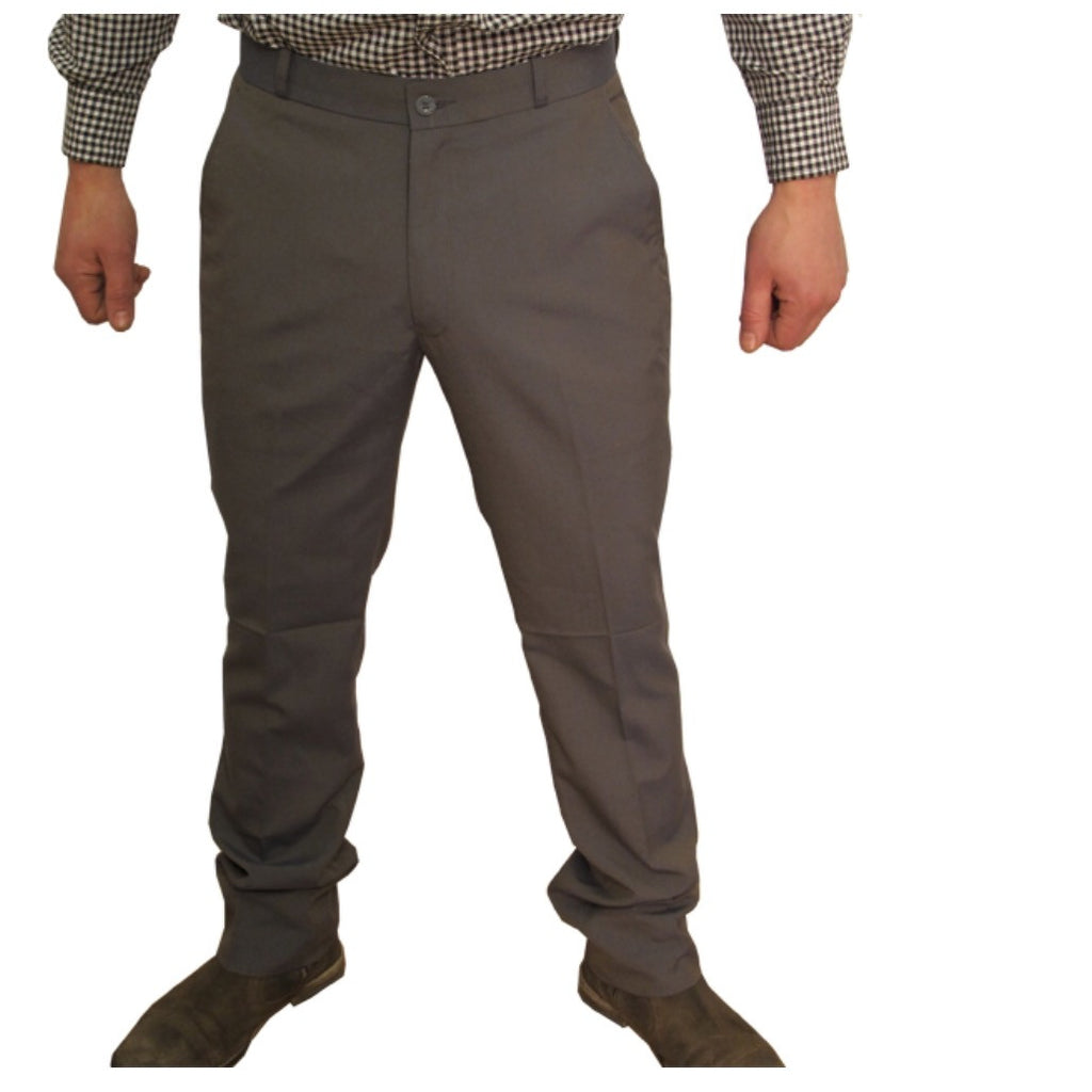 Mens Sta Prest Trousers 2 Tone Tonic Grey