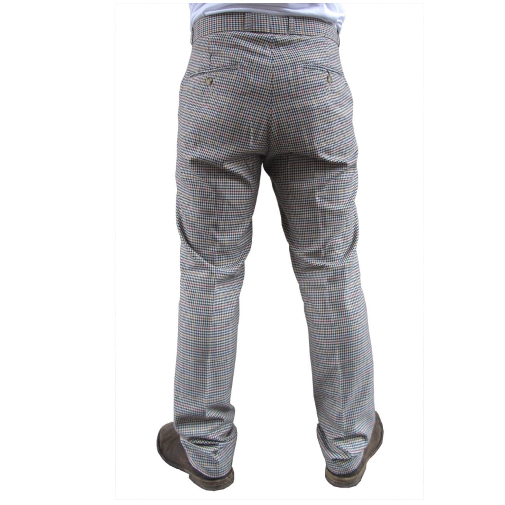 Mens Sta Prest Trousers Heritage Tweed Check