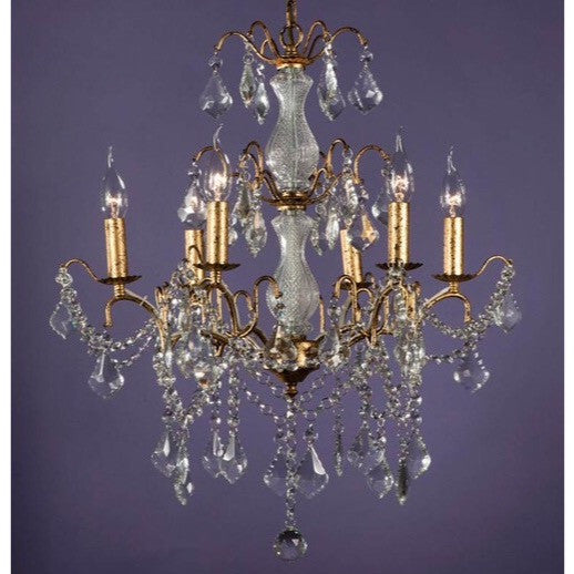 6 Arm Gold Crack Chandelier