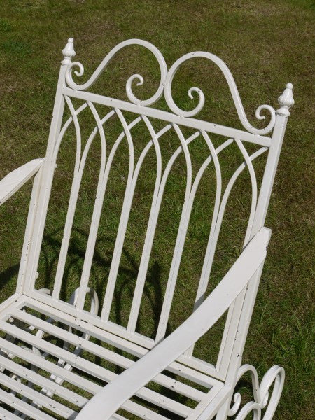 Metal Garden Rocking Chair - Antique White