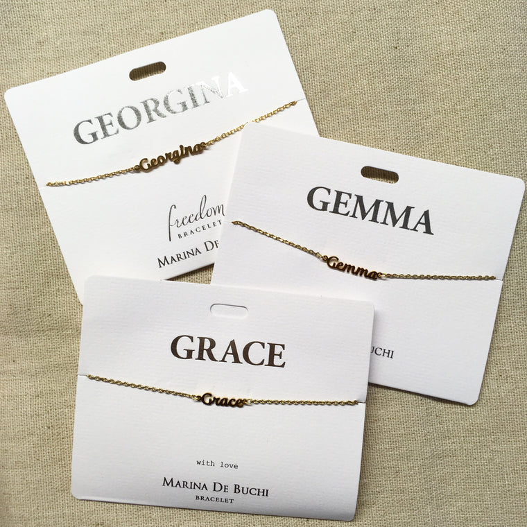 Marina De Buchi Personalised Name Bracelet - Georgina