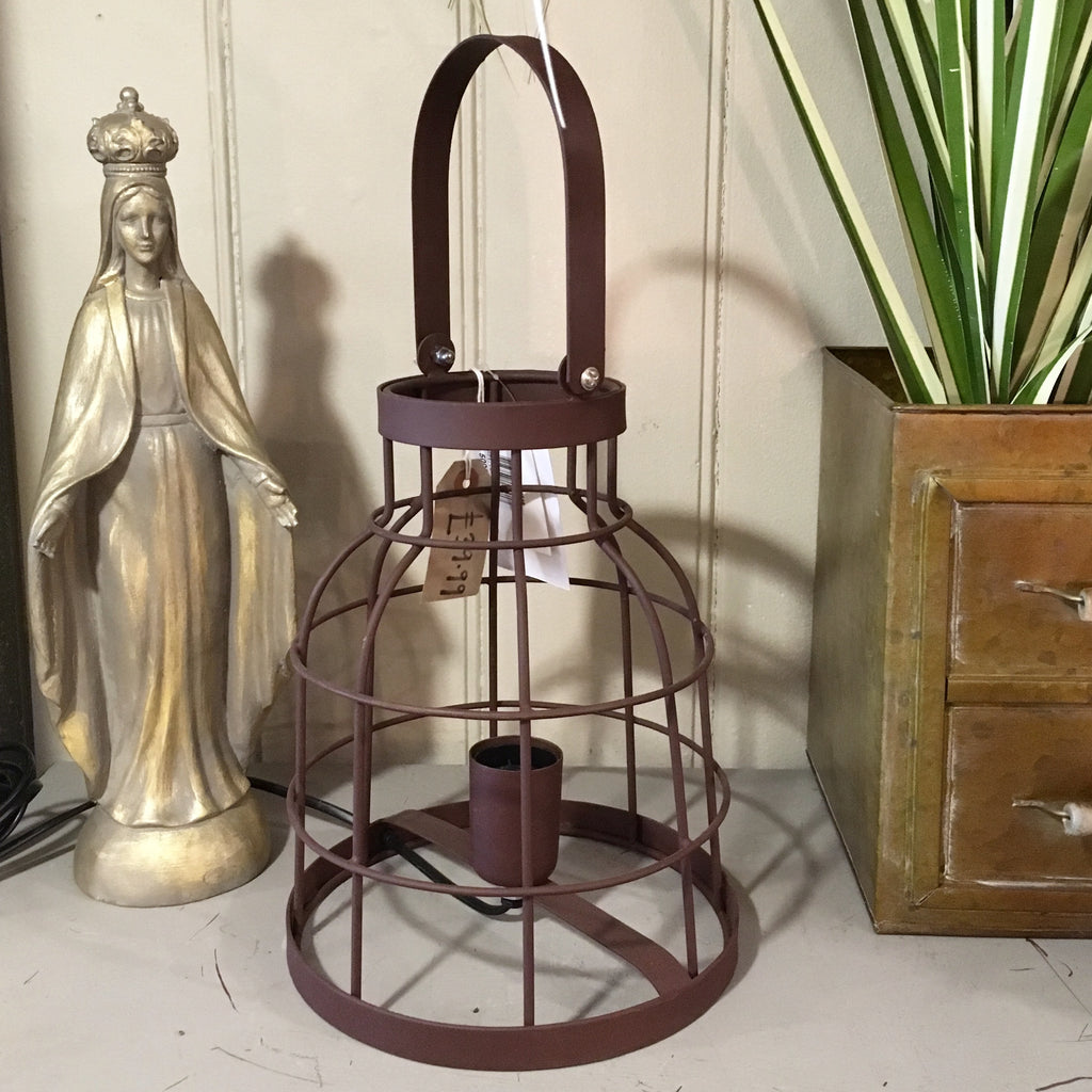 Industrial Style Caged Brittany Table Lamp