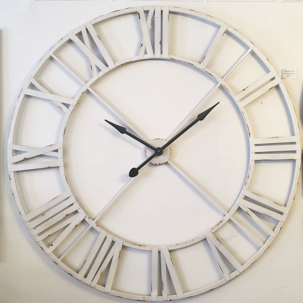 Amazing Huge Large Roman Numeral Iron Clock Kiss Kiss Heart