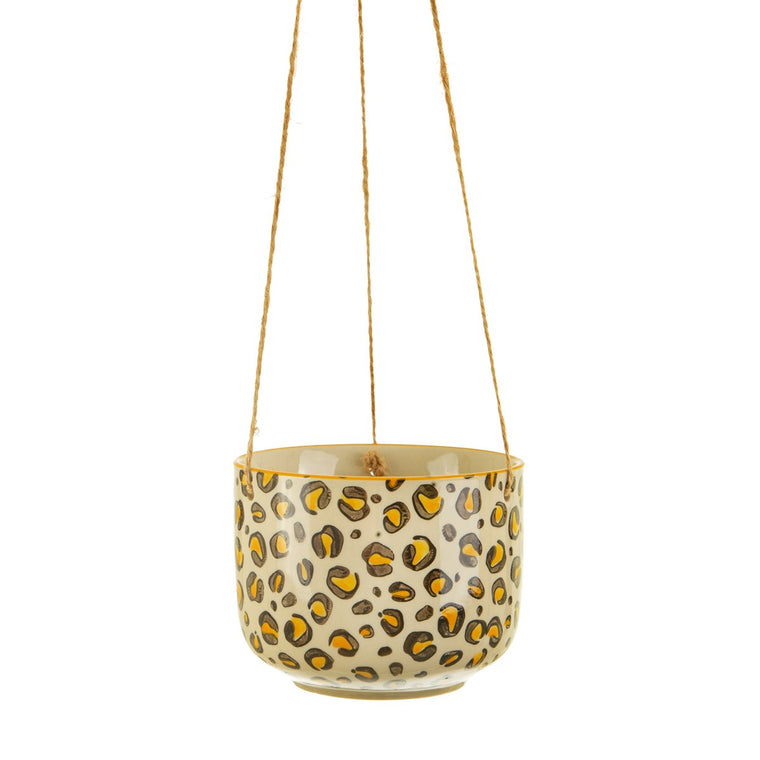Leopard Love Hanging Plant Pot