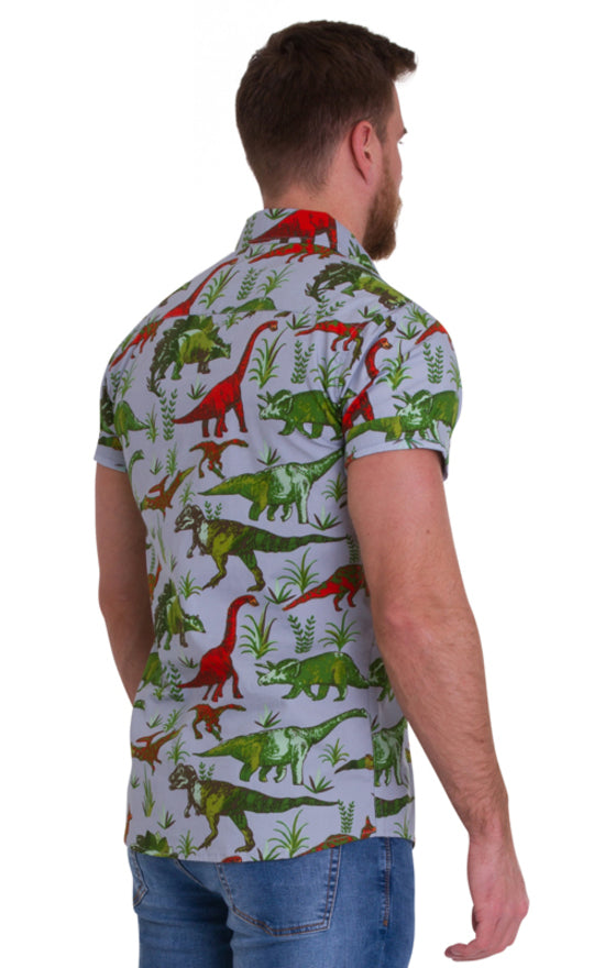 Men's Dinosaur Print Shirt