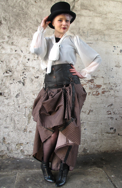 Jawbreaker Steampunk High Waist Corset Skirt