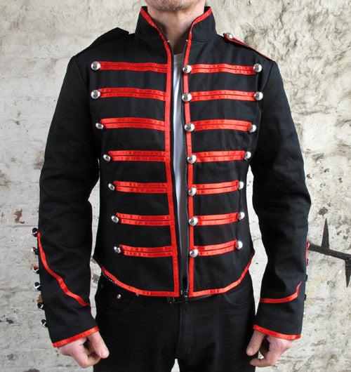 Mens Jawbreaker Black Parade Jacket with Red Trim