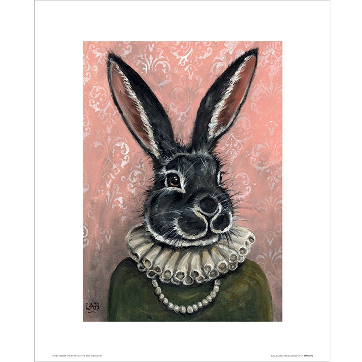 Louise Brown Lady Bunnikins Art Print - 30 x 40cm