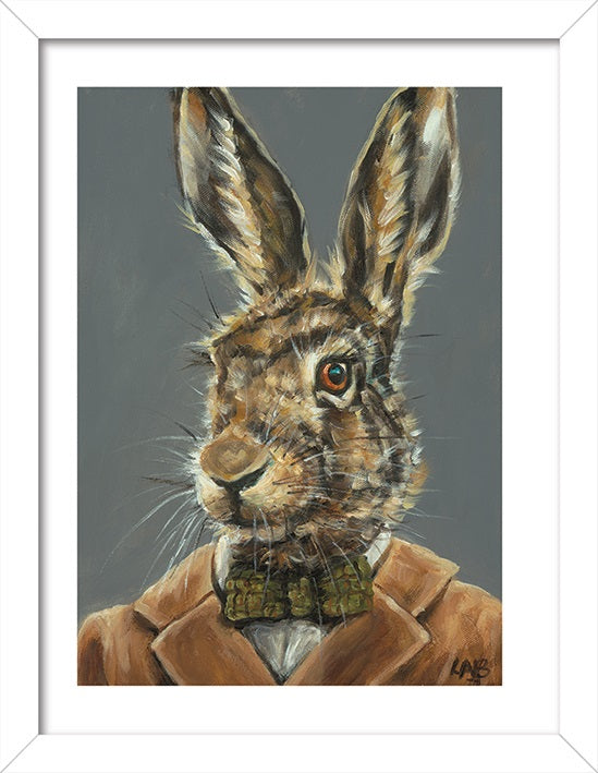 Louise Brown Mr Tweed Art Print - 30 x 40cm