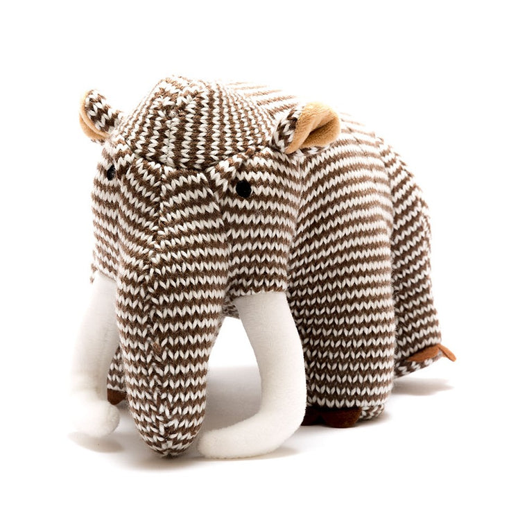 Woolly Mammoth Stripe Knitted Dinosaur Soft Toy